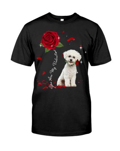 Bichon Frise is My Valentine-Rose