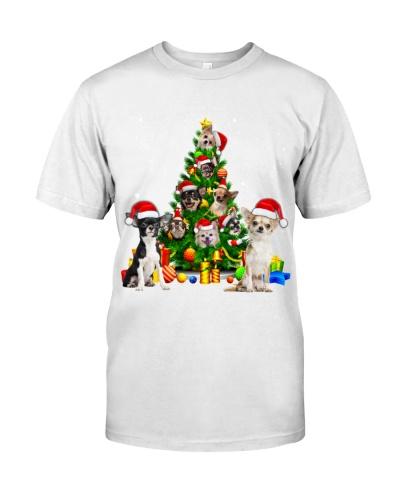Chihuahuas-Christmas Tree