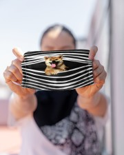 Shiba Inu Stripes FM Cloth face mask aos-face-mask-lifestyle-07