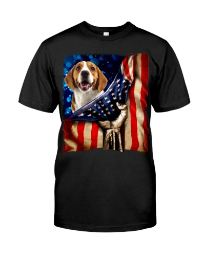 Beagle American Flag-Front
