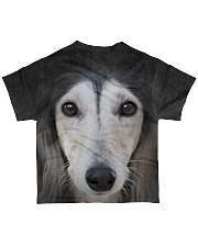 Saluki-Face and Hair All-over T-Shirt back