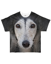 Saluki-Face and Hair All-over T-Shirt front