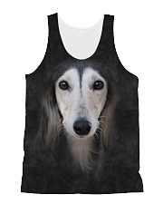 Saluki-Face and Hair All-over Unisex Tank thumbnail