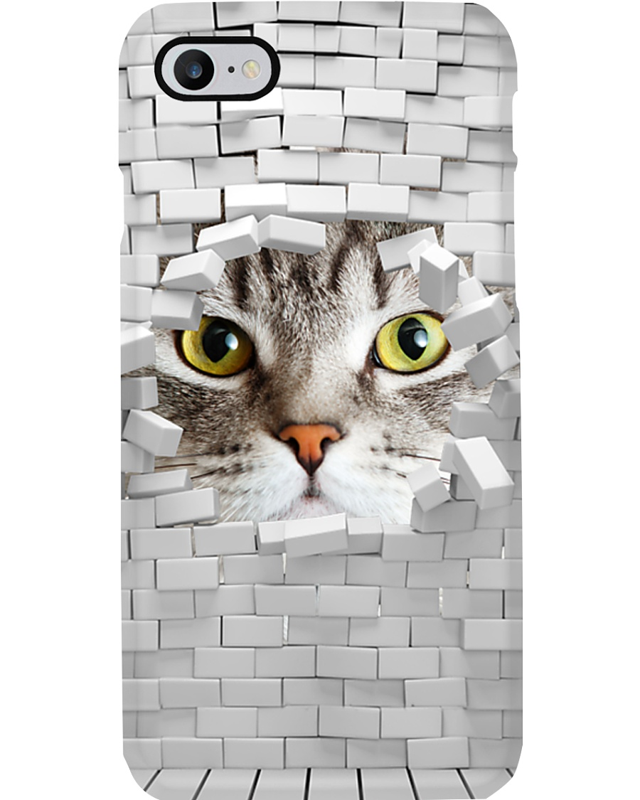 Cat-Brick Phone Case