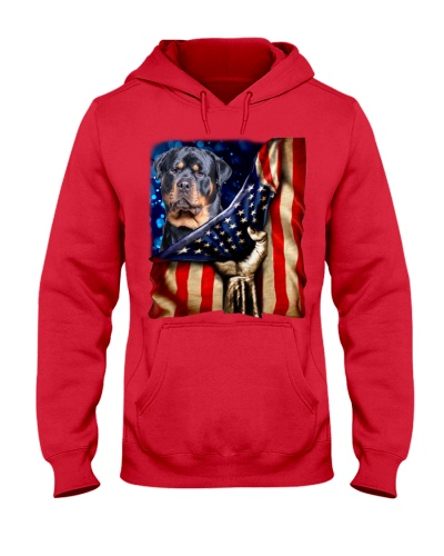 Rottweiler American Flag-Front