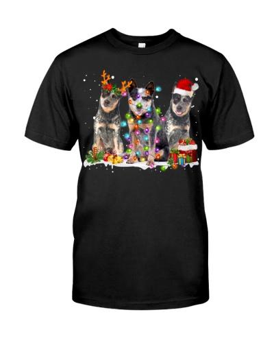 Australian Cattle Dog-Snow-Christmas