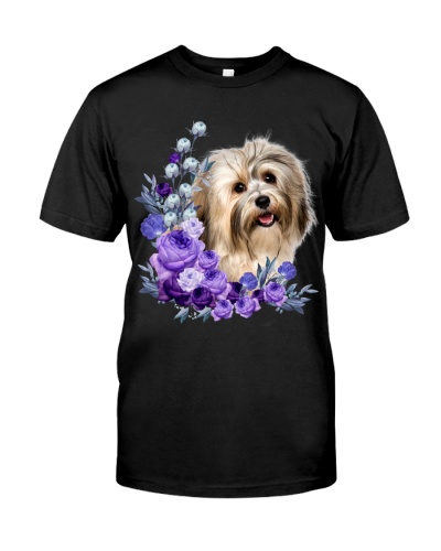 Havanese-Purple Flower Stems