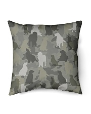 "Golden Retriever-camouflage Indoor Pillow - 16"" x 16"" thumbnail"