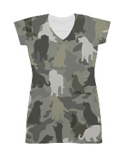 Golden Retriever-camouflage All-over Dress thumbnail