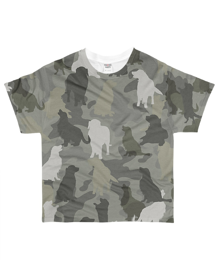 Golden Retriever-camouflage All-over T-Shirt