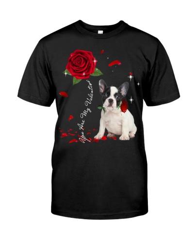 French Bulldog is My Valentine-Rose