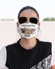 Life is Better With Cats Cloth face mask aos-face-mask-lifestyle-02