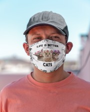 Life is Better With Cats Cloth face mask aos-face-mask-lifestyle-06