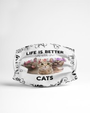 Life is Better With Cats Cloth face mask aos-face-mask-lifestyle-22