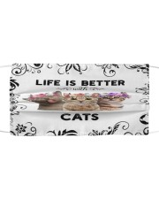 Life is Better With Cats Cloth face mask front