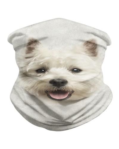 West Highland White Terrier Face 3D BDN