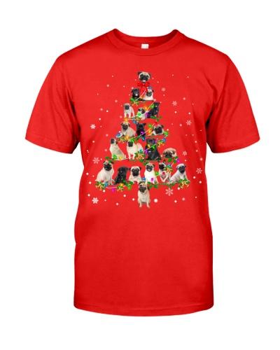 Pug - Christmas Tree