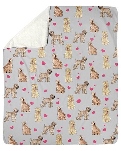 Soft Coated Wheaten Terrier-Heart-Blk