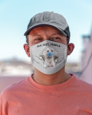 Bichon Frise Six Feet People FM Cloth face mask aos-face-mask-lifestyle-06