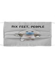 Bichon Frise Six Feet People FM Cloth face mask front
