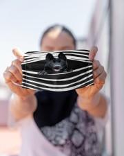 Black German Shepherd Stripes FM Cloth face mask aos-face-mask-lifestyle-07
