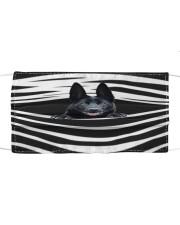 Black German Shepherd Stripes FM Cloth face mask front