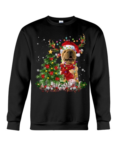 Shar Pei-Reindeer-Christmas