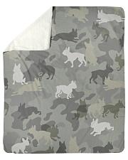"Boston Terrier-camouflage Sherpa Fleece Blanket - 50"" x 60"" thumbnail"