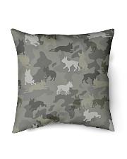 "Boston Terrier-camouflage Indoor Pillow - 16"" x 16"" thumbnail"