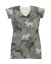 Boston Terrier-camouflage All-over Dress thumbnail