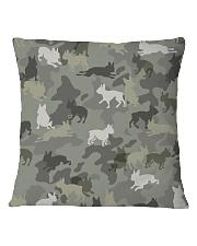 Boston Terrier-camouflage Square Pillowcase thumbnail