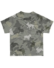 Boston Terrier-camouflage All-over T-Shirt back