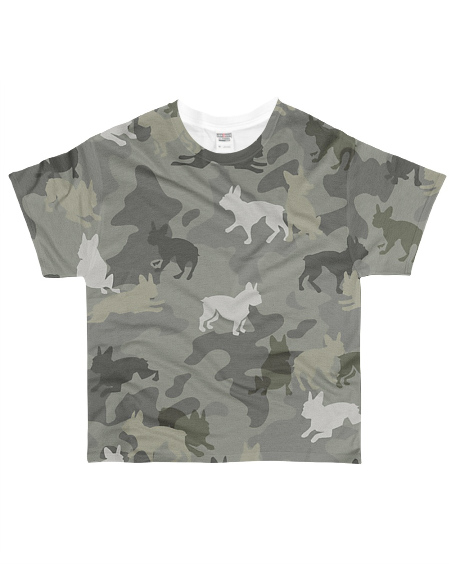 Boston Terrier-camouflage All-over T-Shirt