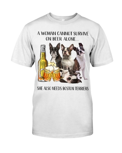 She Also Needs Boston Terrier And Beer