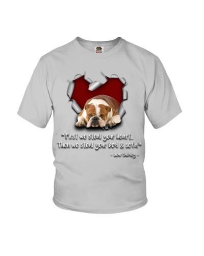 Bulldog-Torn Paper Heart