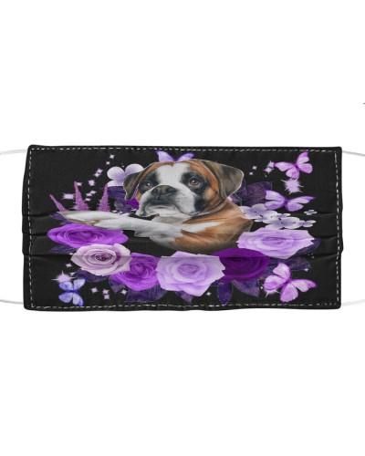 Boxer Purple Flower Face