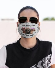 Life is Better With Dachshunds Cloth face mask aos-face-mask-lifestyle-02