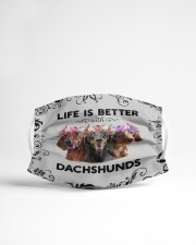 Life is Better With Dachshunds Cloth face mask aos-face-mask-lifestyle-22