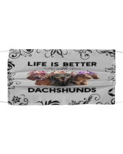 Life is Better With Dachshunds Cloth face mask front