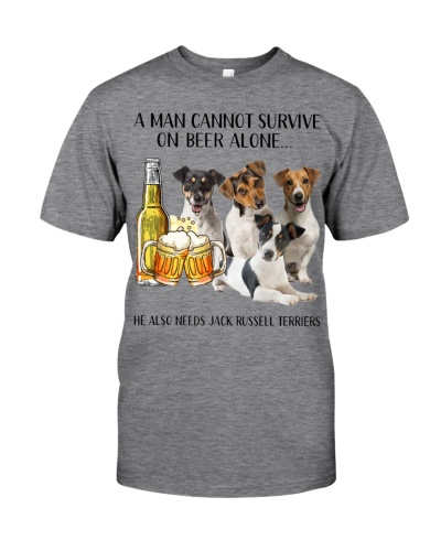 He Also Needs Jack Russell Terrier And Beer
