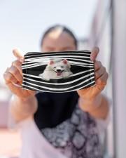 American Eskimo Stripes FM Cloth face mask aos-face-mask-lifestyle-07