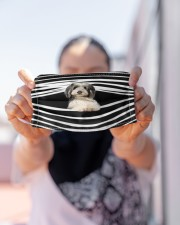 Bearded Collie Stripes FM Cloth face mask aos-face-mask-lifestyle-07