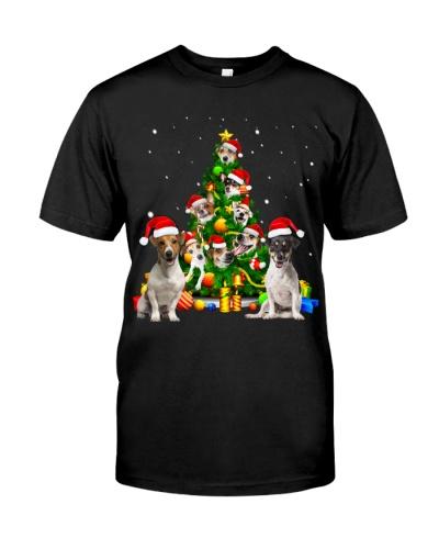 Jack Russell Terrier-Christmas Tree-1