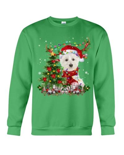 West Highland White Terrier-Reindeer-Christmas