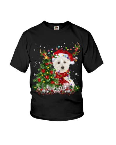 West Highland White Terrier-Reindeer-Christmas