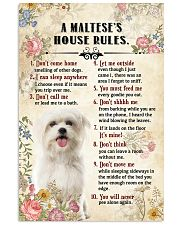 Maltese -CS375-House Rules 11x17 Poster front