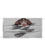 German Shorthaired Pointer-Scratch1-FM Cloth face mask front