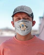 Poodle Crossbreed 2 Six Feet People FM Cloth face mask aos-face-mask-lifestyle-06