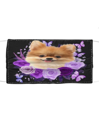 Pomeranian Purple Flower Face