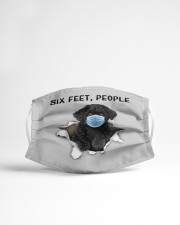 Black Toy Poodle Six Feet People FM Cloth face mask aos-face-mask-lifestyle-22